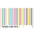 Color barcode vector image vector image
