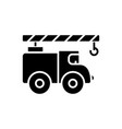crane car icon black sign on vector image