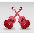 Detailed of classical guitar vector image