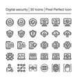 digital security icon vector image vector image