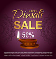 diwali sale banner vector image vector image