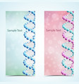 dna banners set vector image vector image