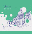 drawing sketch venice italy vector image vector image