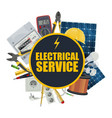 electricity equipment electrical service vector image vector image