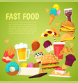 fast food nutrition american hamburger or vector image