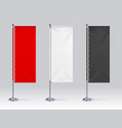 flag banner mockup realistic blank hanging vector image vector image