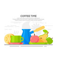 flat design concepts for coffee time vector image