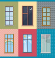 flat exterior elements set vector image vector image