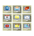 Flat Icon Design Computer vector image vector image
