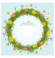 Flowers Spring Season Wreath vector image vector image