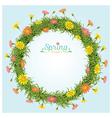 Flowers Spring Season Wreath vector image