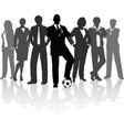 football business team vector image vector image