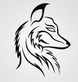 Fox Head Tattoo Design vector image vector image