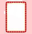 frame and border of ribbon with tonga flag vector image vector image