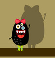 funny black girl monster vector image