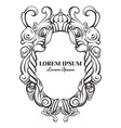 hand drawn baroque frame detail for tattoo vector image vector image
