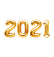 happy new year 2021 background realistic golden vector image vector image