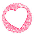 heart shape frame for message vector image