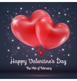 Hearts balloons with valentines day text vector image