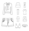 isolated object of woman and clothing symbol set vector image vector image