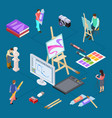 isometric graphic design art concept vector image vector image