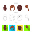 kara red braid and other types of hairstyles vector image