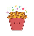 kawaii french fries icon cartoon vector image