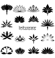 Lotuses icons set vector image vector image