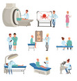 medical diagnostic and treatment of cancer set vector image vector image