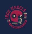 motor skull vintage design biker vector image vector image