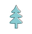 natural pine tree to ecology reserve vector image