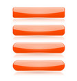 orange menu buttons rectangle and oval 3d shiny vector image vector image