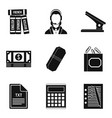 paper icons set simple style vector image vector image