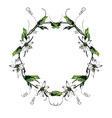 Passiflora white wreath2 vector image vector image