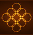 pattern of bright circles burning particles vector image