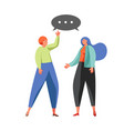 political talk concept flat isolated vector image vector image