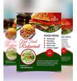 restaurant flyer design template vector image vector image