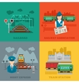 Set of railway flat concepts vector image