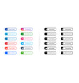 social media lower third banners buttons template vector image