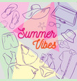 summer clothes and accessories vector image vector image