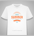 summer holidays typography tee shirt print vector image vector image