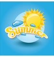 summer label summer icon with sun vector image vector image