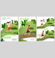 summer posters natural parkland activities vector image vector image