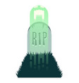 the haunted grave two vector image vector image