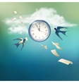 Time Abstract Concept Design vector image vector image