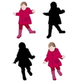 toddler wearing raincoat vector image vector image