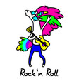 unicorn rock star for design vector image vector image