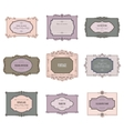 Vintage calligraphic frames and labels set vector image vector image