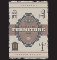 vintage furniture shop poster vector image