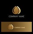 water drop liquid gold logo vector image vector image